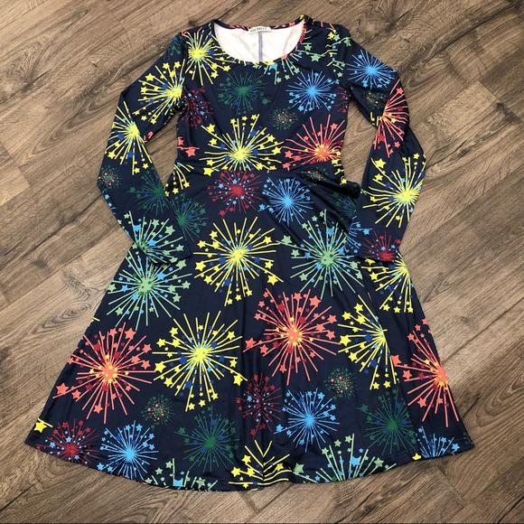 ecb6f6c87160 Huhot Dresses | Nwot Fireworks Fourth Of July Dress | Poshmark